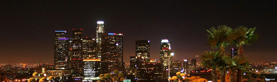 Los Angeles Skyline Dodger Stadium Sept 19 2008 by jondoeforty1, on Flickr
